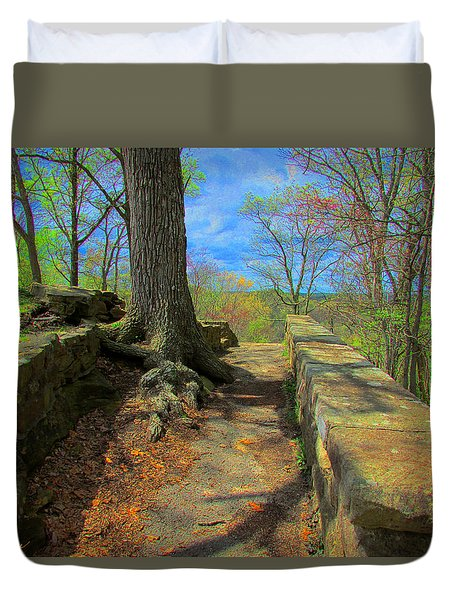 Duvet Cover featuring the photograph Ancient Pathway by Michael Rucker