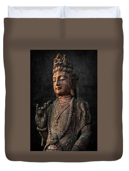 Duvet Cover featuring the photograph Ancient Peace by Daniel Hagerman
