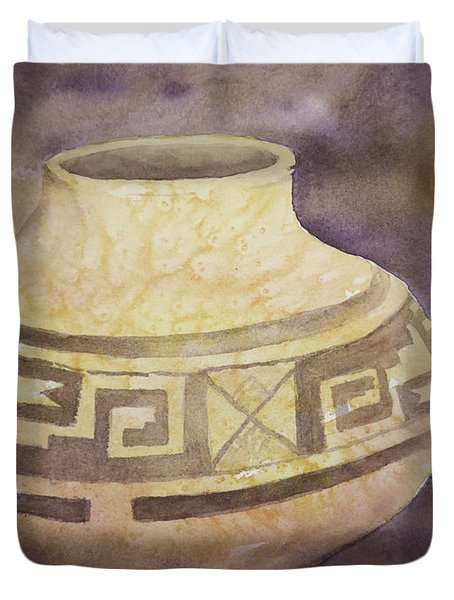 Ancient Pottery Duvet Cover