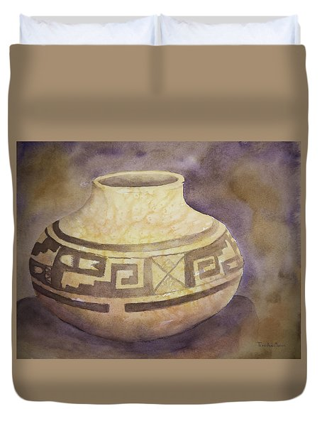 Ancient Pottery Duvet Cover