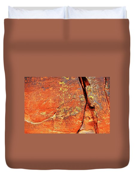Ancient Scribeing Duvet Cover