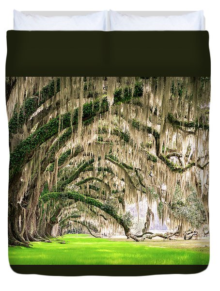 Ancient Southern Oaks Duvet Cover by Serge Skiba