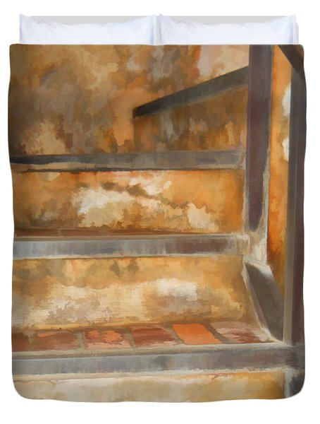 Ancient Stairway Duvet Cover