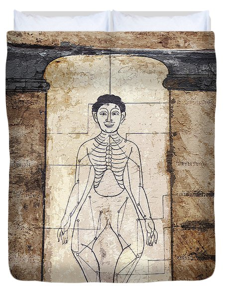Ancient Thai Art Mural Duvet Cover
