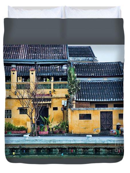 Ancient Town Hoi An Duvet Cover by Chuck Kuhn