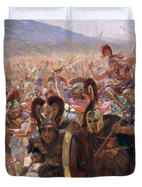 Ancient Warriors Duvet Cover by Georges Marie Rochegrosse