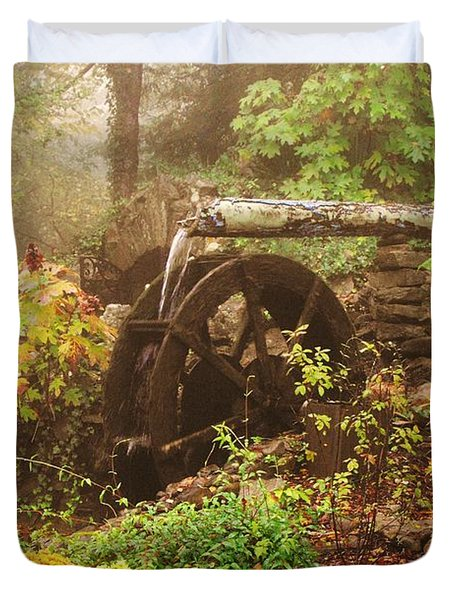 Ancient Water Wheel Duvet Cover