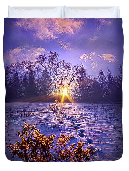 Duvet Cover featuring the photograph And Back Again by Phil Koch