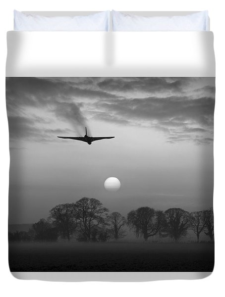 And Finally Black And White Version Duvet Cover