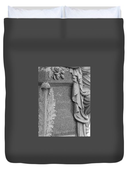 Duvet Cover featuring the photograph And Flights Of Angels Sing Thee by Robin Regan