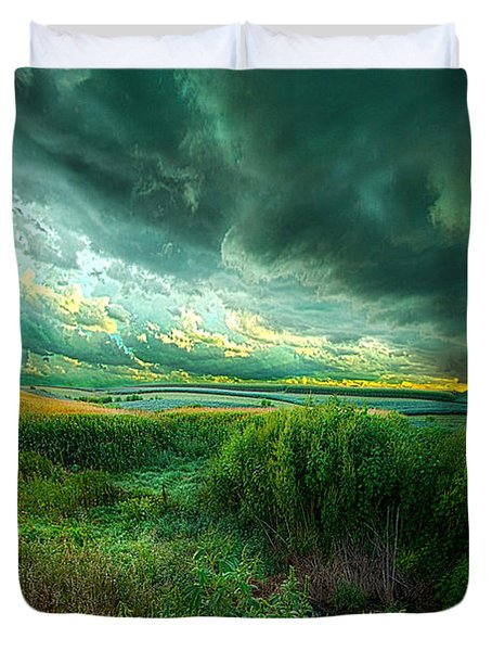 And For A Moment It Was Silent Duvet Cover
