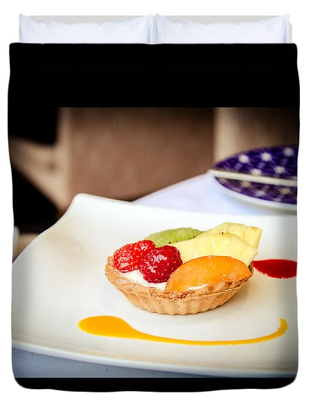 Duvet Cover featuring the photograph And For Dessert... by Jason Smith