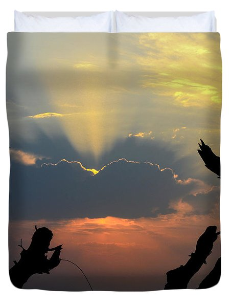 And God Said, Let There Be Light Duvet Cover