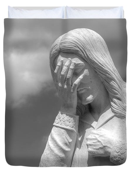 And Jesus Wept II Duvet Cover