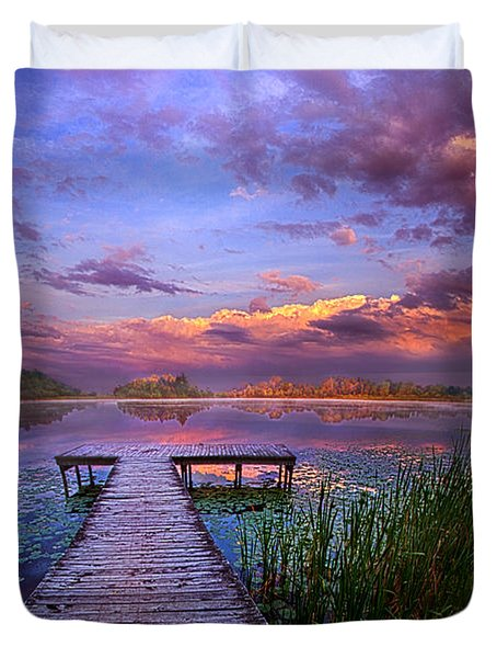 And Silence Duvet Cover by Phil Koch