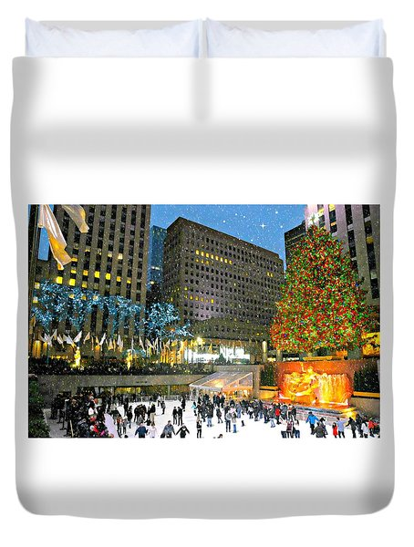 And So This Is Christmas Duvet Cover