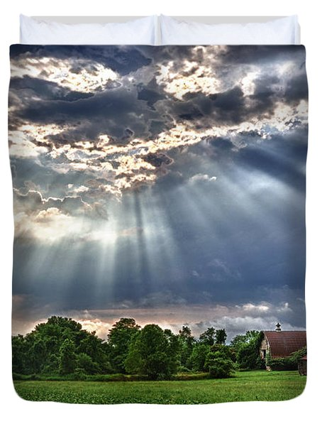 And The Heavens Opened 1 Duvet Cover