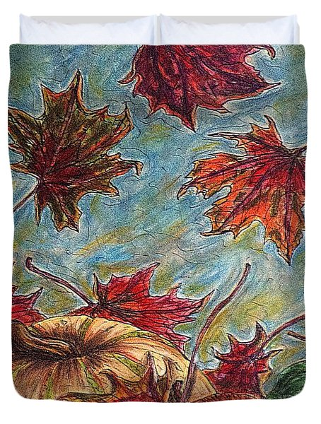 And The Leaves Came Tumbling Down Duvet Cover