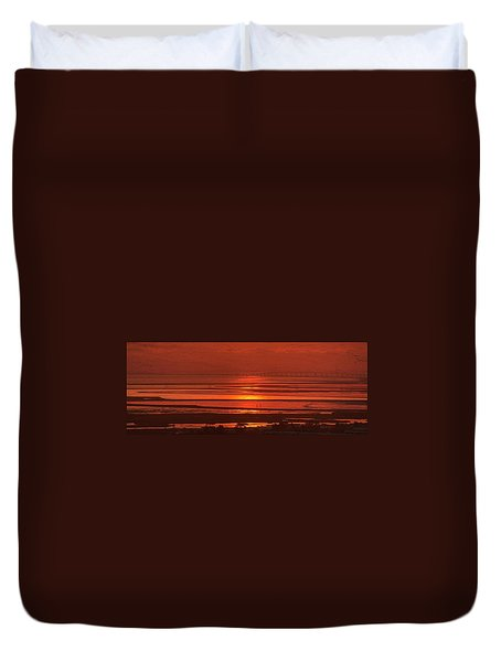 Duvet Cover featuring the photograph And The Sea May Look Warm To You Babe by Peter Thoeny
