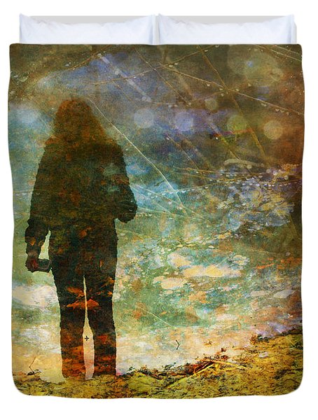 Duvet Cover featuring the photograph And Then He Turned Her World Upside Down by Tara Turner