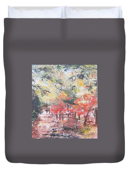 And Then There Was Fall Duvet Cover