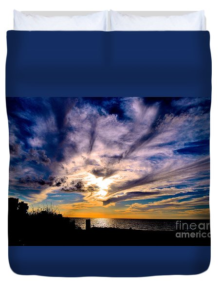 And Then There Was God Duvet Cover by Margie Amberge