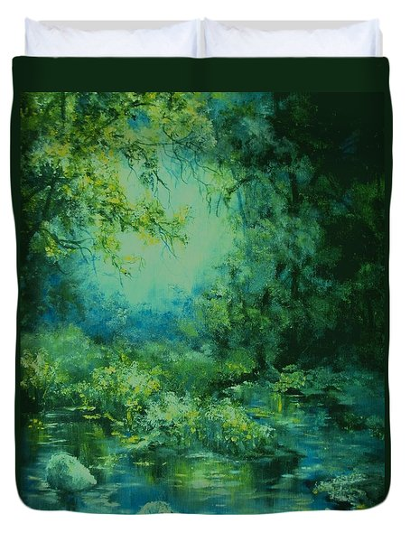 And Time Stood Still Duvet Cover