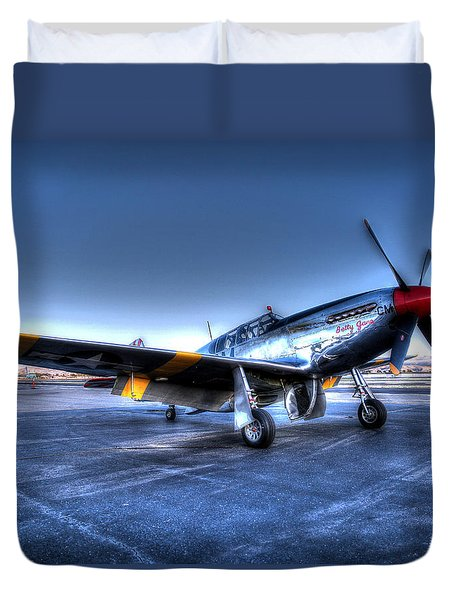 Duvet Cover featuring the photograph And Who Could Forget Betty Jean.  P51c Nl25imx  by John King