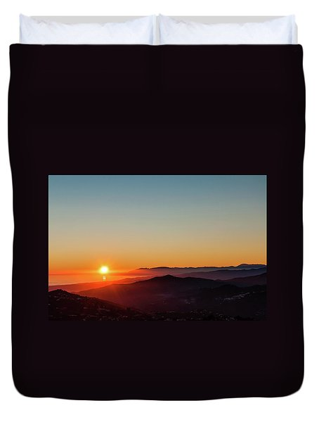 Andalucian Sunset Duvet Cover