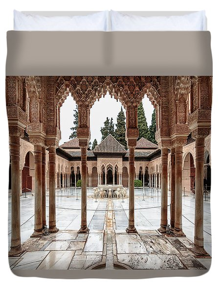Andalusia Castle Duvet Cover
