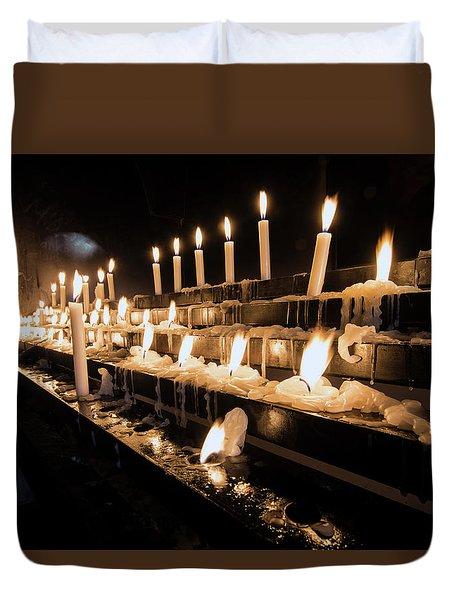 Andechs Prayer Candles Duvet Cover