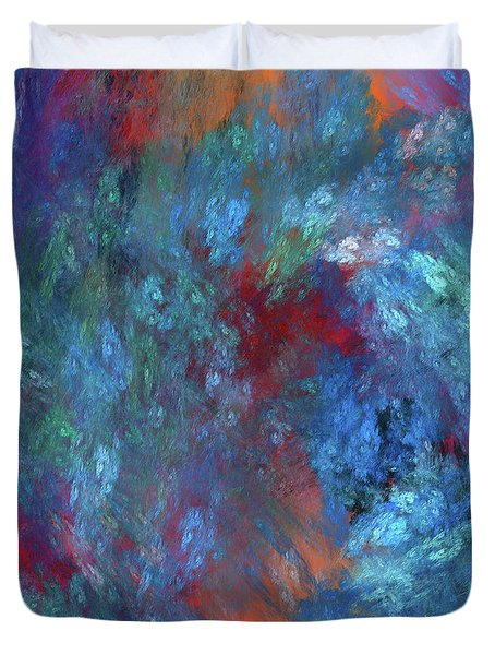 Duvet Cover featuring the digital art Andee Design Abstract 1 2017 by Andee Design