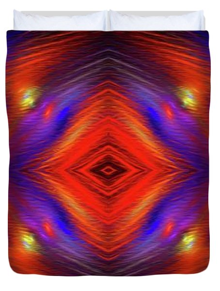 Duvet Cover featuring the digital art Andee Design Abstract 3 2015 by Andee Design