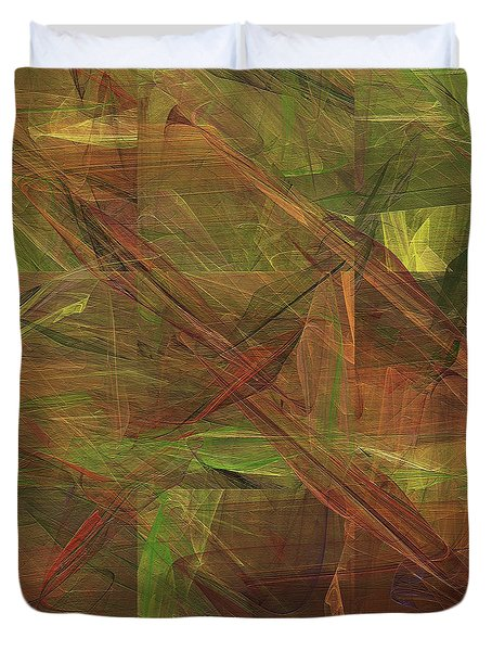 Duvet Cover featuring the digital art Andee Design Abstract 49 2017 by Andee Design