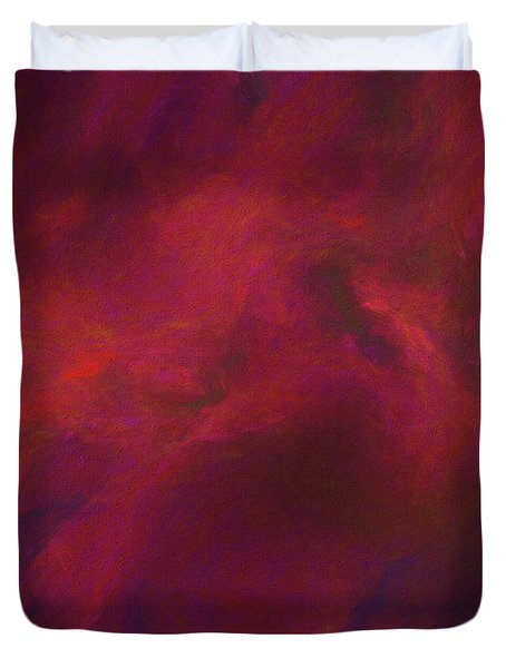 Duvet Cover featuring the digital art Andee Design Abstract 50 2017 by Andee Design