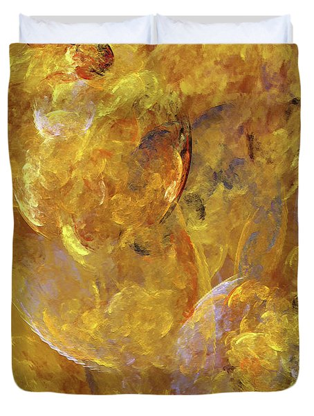 Duvet Cover featuring the digital art Andee Design Abstract 51 2017 by Andee Design