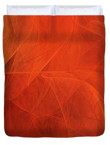 Duvet Cover featuring the digital art Andee Design Abstract 54 2017 by Andee Design