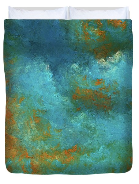 Duvet Cover featuring the digital art Andee Design Abstract 55 2017 by Andee Design