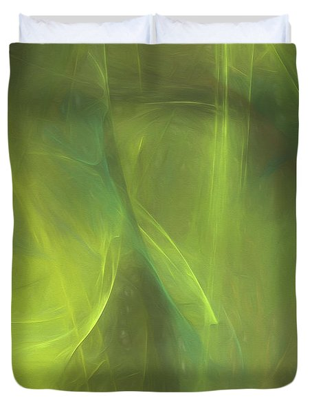 Duvet Cover featuring the digital art Andee Design Abstract 58 2017 by Andee Design
