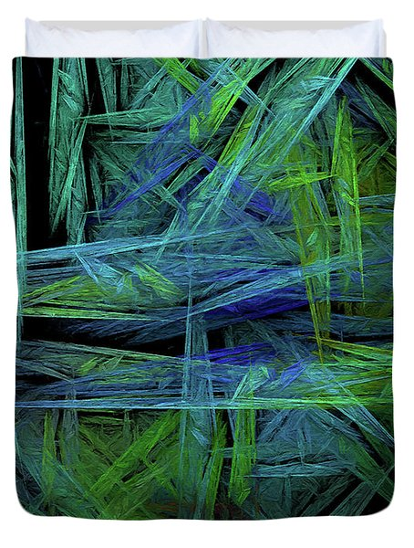 Duvet Cover featuring the digital art Andee Design Abstract 61 2017 by Andee Design