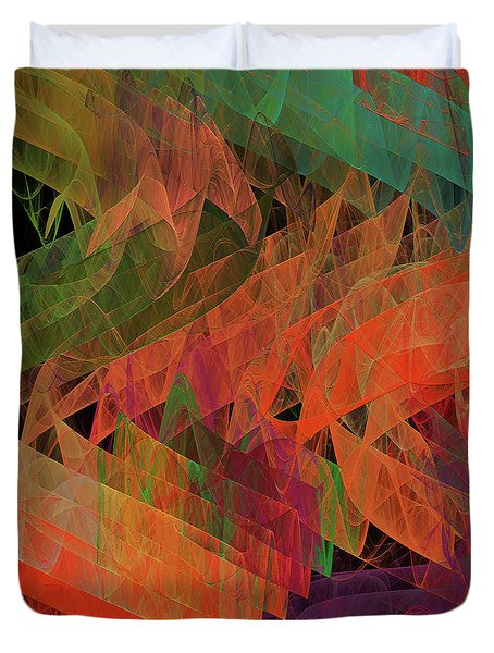 Duvet Cover featuring the digital art Andee Design Abstract 62 2017 by Andee Design
