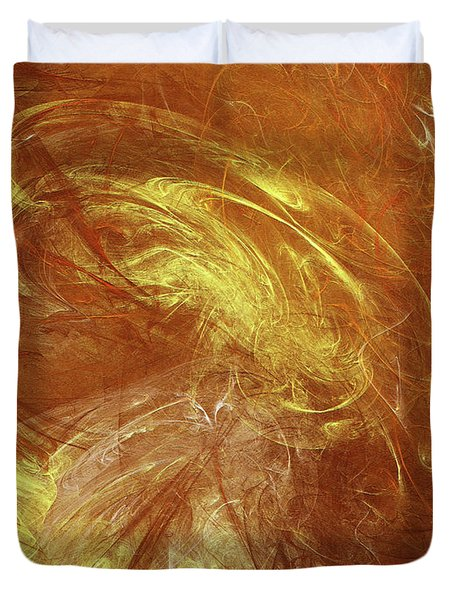Duvet Cover featuring the digital art Andee Design Abstract 68 2017 by Andee Design
