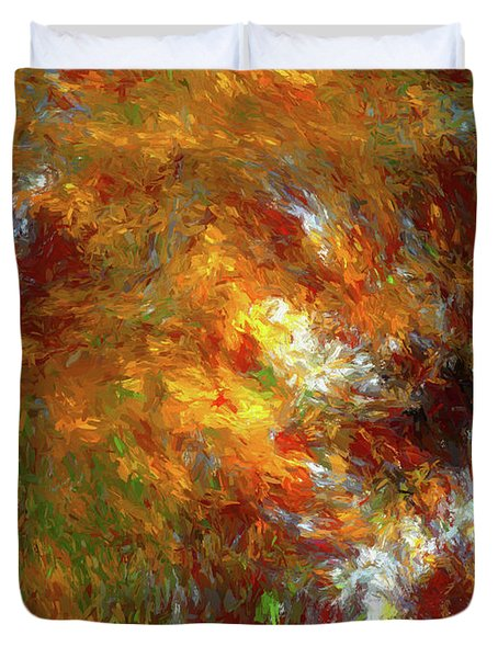 Duvet Cover featuring the digital art Andee Design Abstract 69 2017 by Andee Design