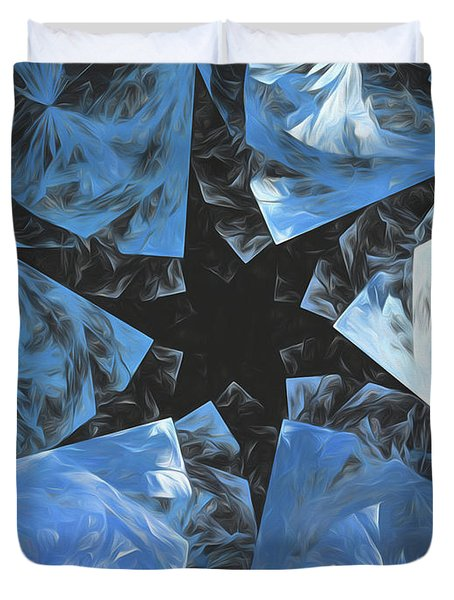 Duvet Cover featuring the digital art Andee Design Abstract 71 2017 by Andee Design