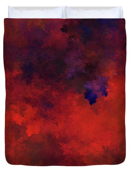 Duvet Cover featuring the digital art Andee Design Abstract 73 2017 by Andee Design