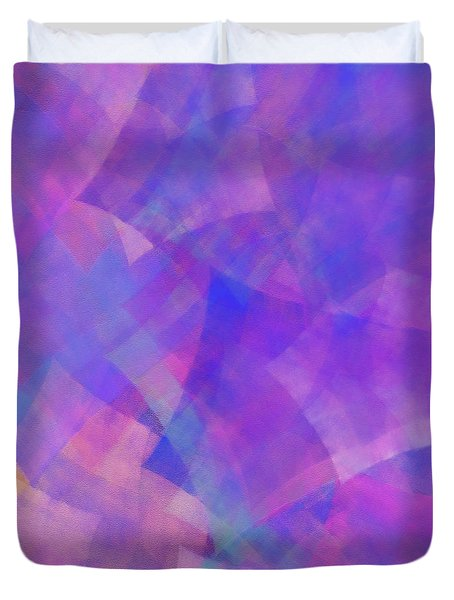 Duvet Cover featuring the digital art Andee Design Abstract 75 2017 by Andee Design