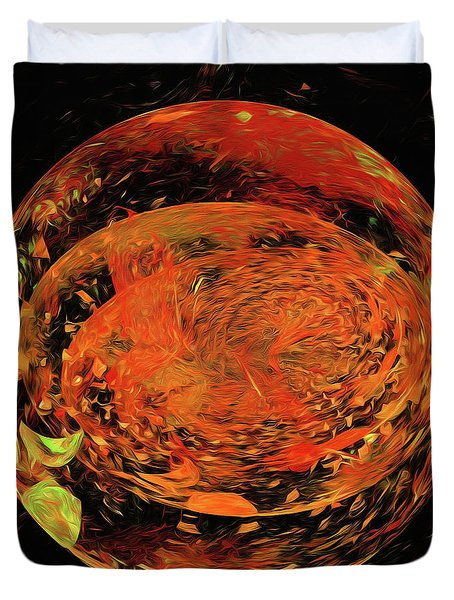 Duvet Cover featuring the digital art Andee Design Abstract 82 2017 by Andee Design