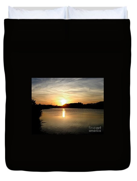 Anderson Stormwater Park In Rockledge Florida Duvet Cover