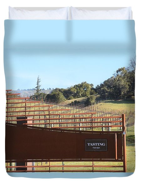Anderson Valley Vineyard Duvet Cover