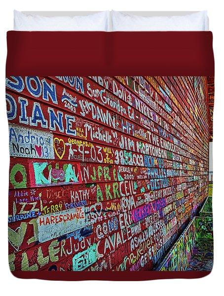Anderson Warehouse Graffiti  Duvet Cover